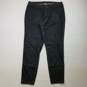 Faded Glory Jeans - Black Denim jeggings with pockets